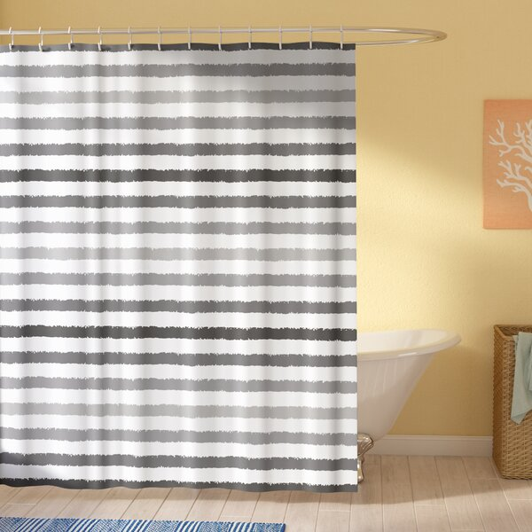 Stephane Gray and White Grunge Shower Curtain by Longshore Tides