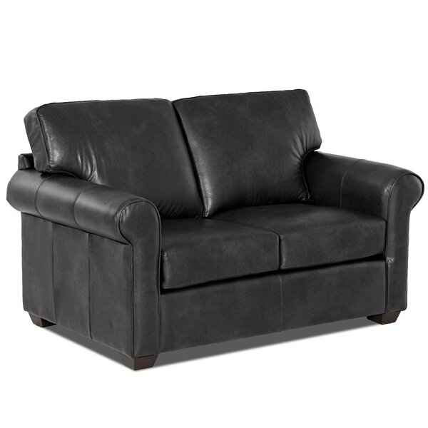 Rachel Leather Loveseat By Klaussner Furniture