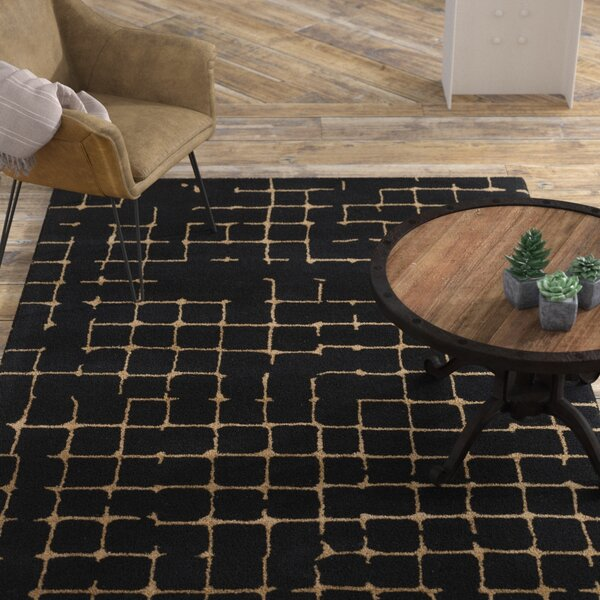 Byers Black Area Rug by Williston Forge