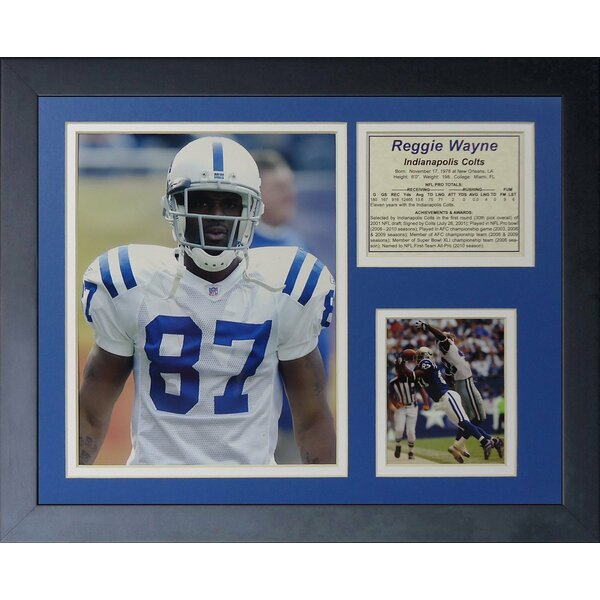 Reggie Wayne Framed Photographic Print by Legends Never Die