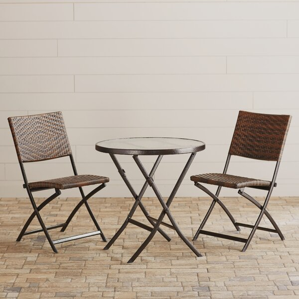 Prattsville 3 Piece Bistro Set by Zipcode Design