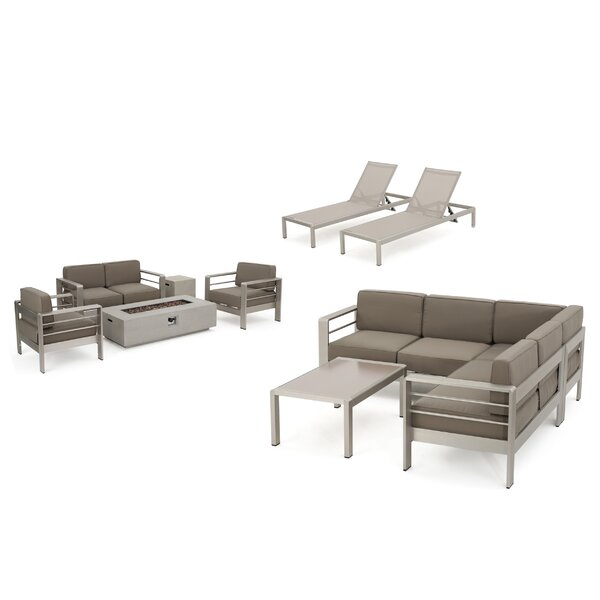 Royalston 10 Piece Sofa Seating Group with Cushions by Brayden Studio