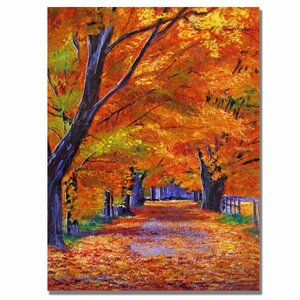 'Leafy Lane' by David Lloyd Glover Painting Print on Canvas by Trademark Fine Art