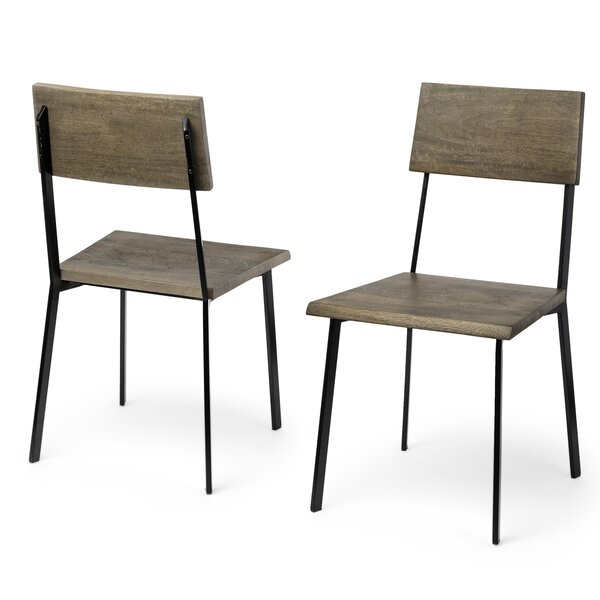 Kelli Solid Wood Dining Chair (Set of 2) by 17 Stories