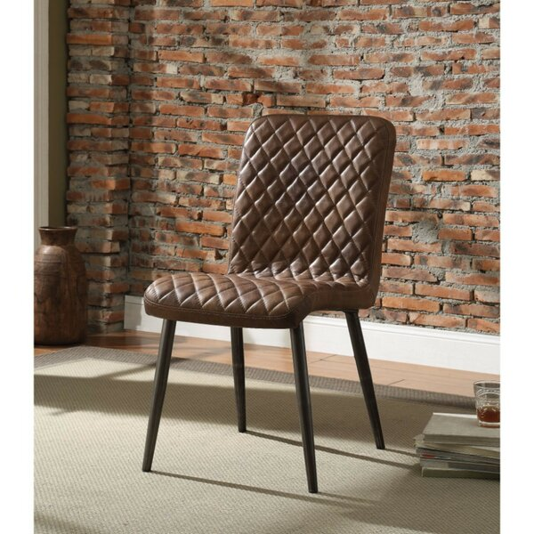 Kyle Diamond Patterned Upholstered Dining Chair (Set of 2) by 17 Stories