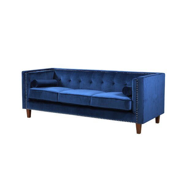 Kittleson Classic Nailhead Chesterfield Sofa by Everly Quinn