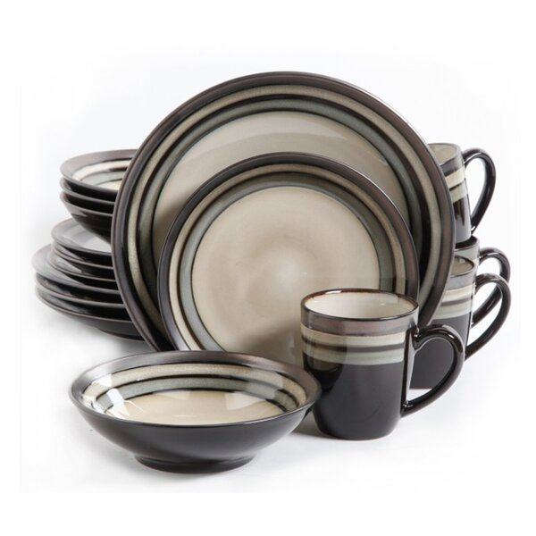 Lewisville 16 Piece Dinnerware Set, Service for 4 by Gibson Elite