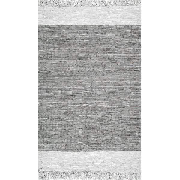 Emrich Hand-Woven Gray Area Rug by Ivy Bronx