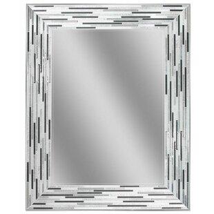 Latitude Run Potts Reeded Tiles Accent Wall Mirror