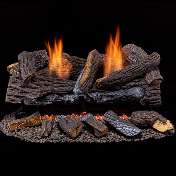 Dual Fuel Gas Log Set by Duluth Forge