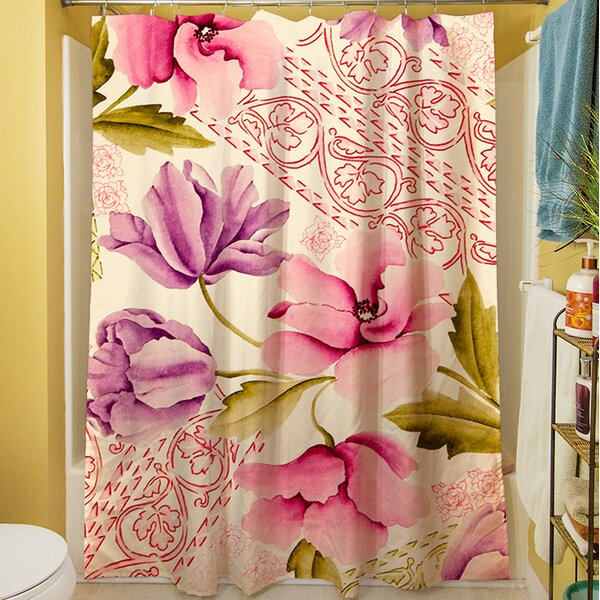 Tulips and Lace Shower Curtain by Manual Woodworkers & Weavers