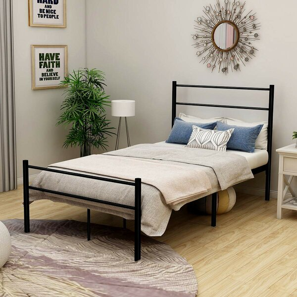 Calabasas Metal Platform Bed by Ebern Designs