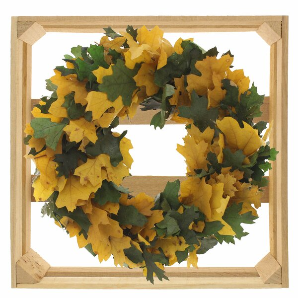 10 Maple Leaves Wreath by August Grove