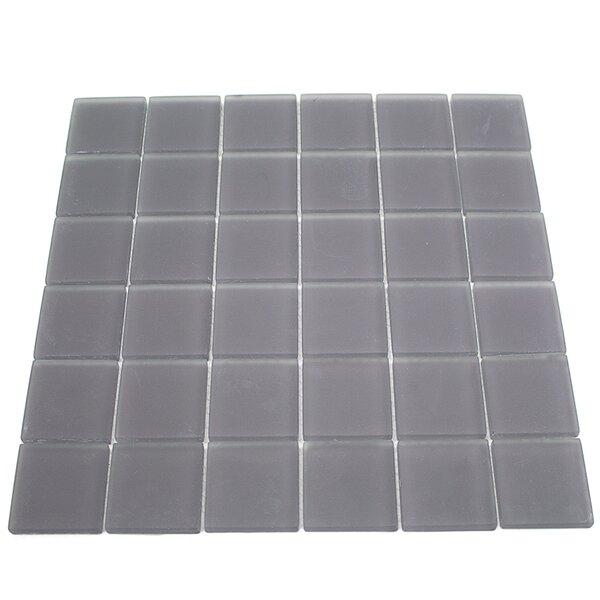 Contempo 2 x 2 Glass Mosaic Tile in Smoke Gray by Splashback Tile