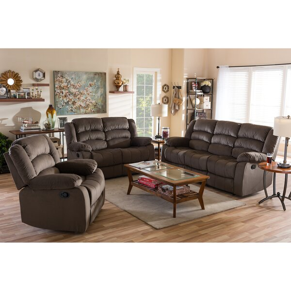 Best #1 Haverville 3 Piece Reclining Living Room Set By Latitude Run Bargain