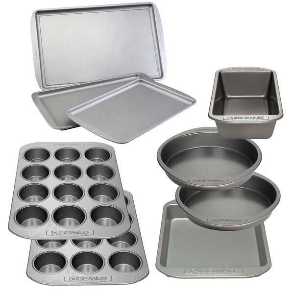 9 Piece Non-Stick Bakeware Ultimate Baking Pan Set by Farberware
