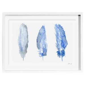 'Feathered' Framed Painting Print on Wrapped Canvas by Oliver Gal