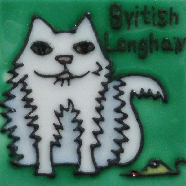 Cat Tile Magnet by Continental Art Center
