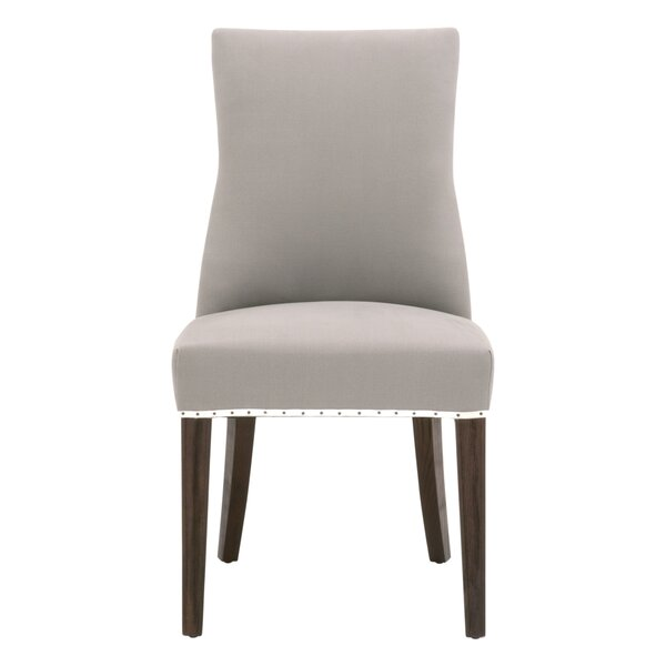 Malley Tufted Cotton Upholstered Parsons Chair In Ash (Set Of 2) By Winston Porter