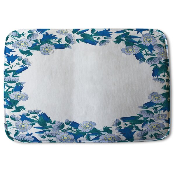 Wilshire Winter Flowers Designer Bath Rug