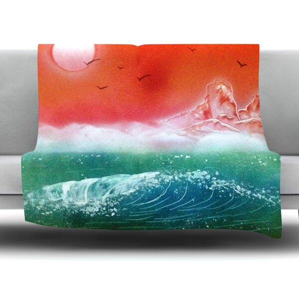 Dream Seascape by Infinite Spray Art Fleece Blanket by East Urban Home