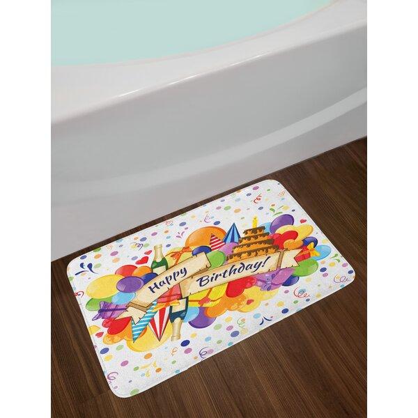 Colorful Joyous Birthday Bath Rug by East Urban Home