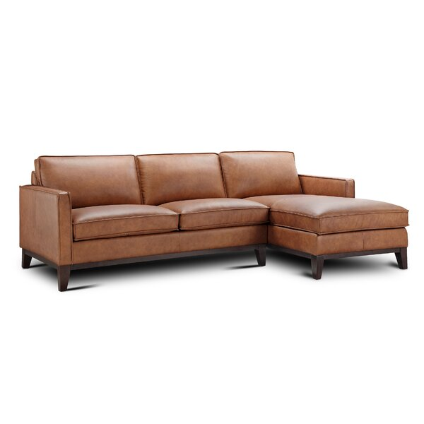 Whitson Leather Right Hand Facing Sectional By Foundry Select