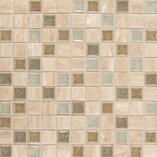 Kisment 1 x 1 Glass Mosaic Tile in Serendipity by Bedrosians