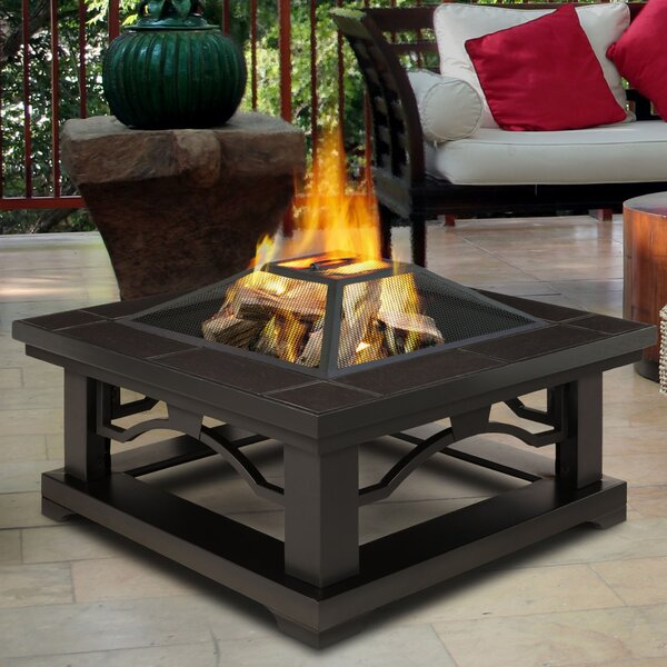 Crestone Steel Wood Burning Fire Pit Table by Real Flame