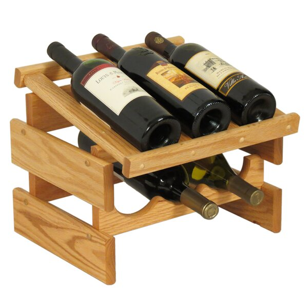 Geis 6 Bottle Tabletop Wine Bottle Rack by Symple Stuff Symple Stuff