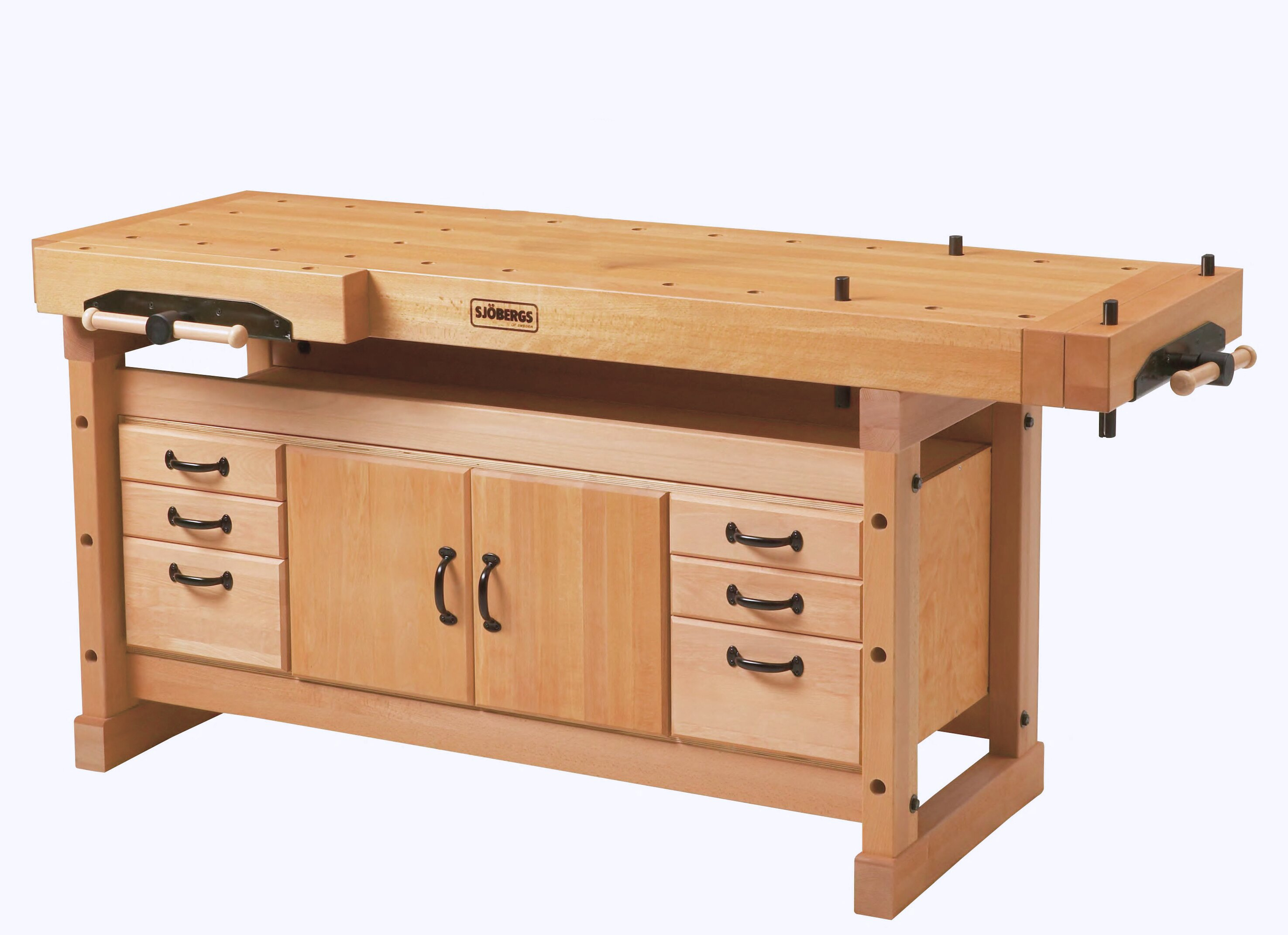 Fantastic Elite 2000 76W Wood Top Workbench And Cabinet Combo Spiritservingveterans Wood Chair Design Ideas Spiritservingveteransorg