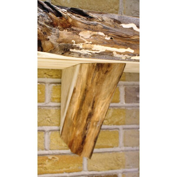 Fireplace Mantel Natural Corbel in Butternut (Set of 2) by Kettle Moraine Hardwoods