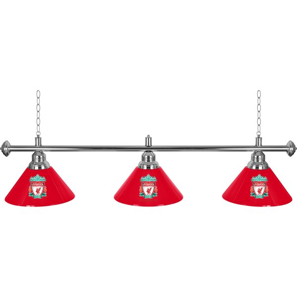 Premier League 3 Shade 3-Light Pool Table Light by Trademark Global