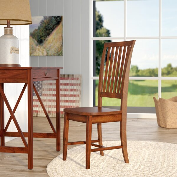 Biermann Solid Wood Dining Chair by Andover Mills