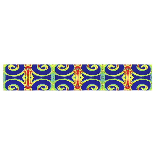 Anne LaBrie Swirl Away Table Runner by East Urban Home
