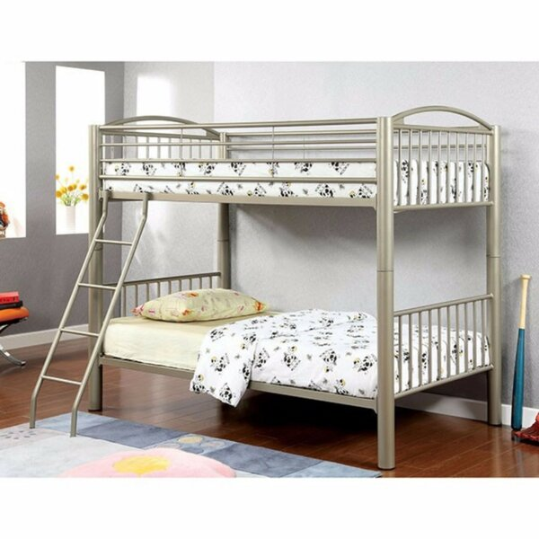 Fonville Metallic Twin Over Twin Bunk Bed by Harriet Bee