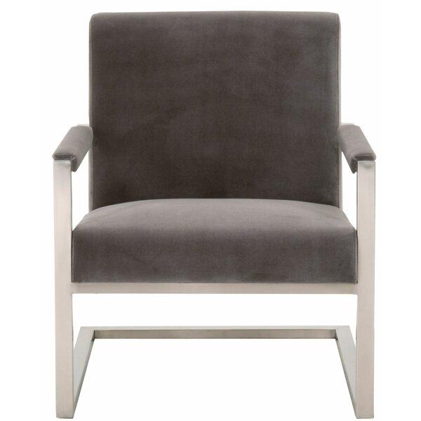 Duckett Metal Framed Club Chair by Everly Quinn