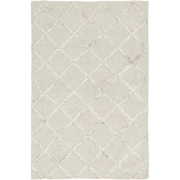 One-of-a-Kind Elida Hand-Knotted Wool Ivory Indoor Area Rug by Rosecliff Heights