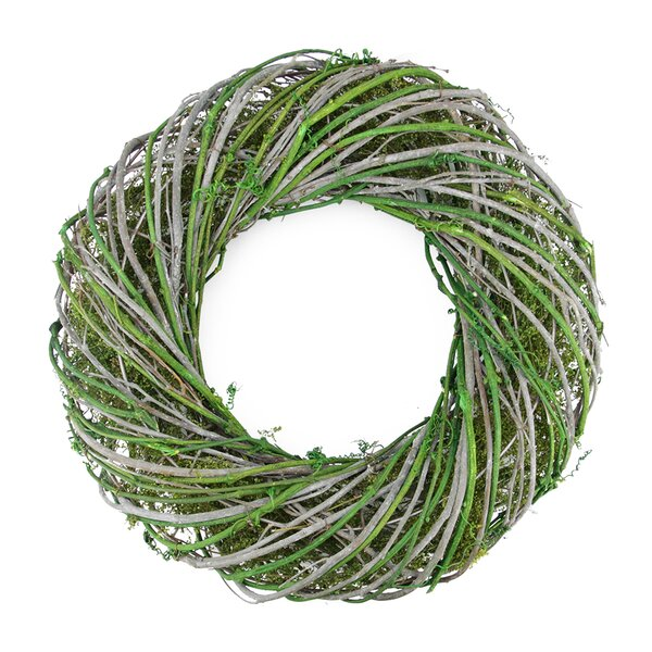 Twig and Moss Artificial Spring Wreath by Northlight Seasonal