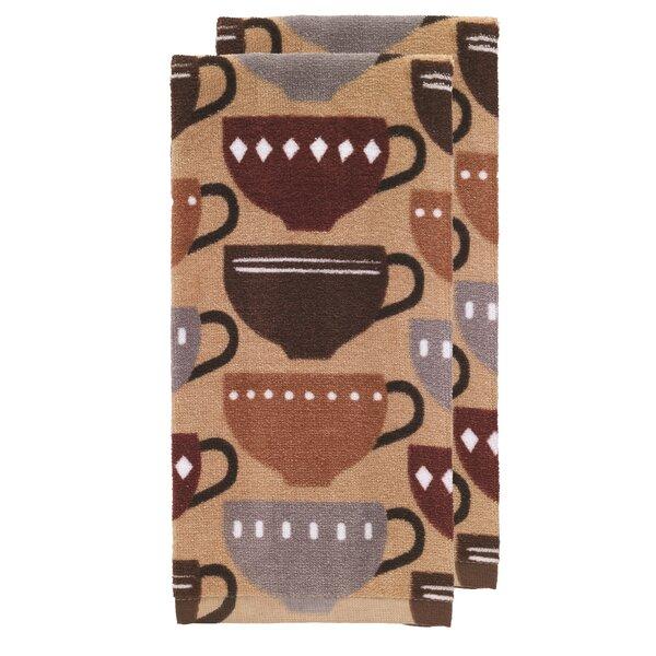 Coffee Fiber Reactive Print Kitchen Dishcloth (Set of 2) by T-fal