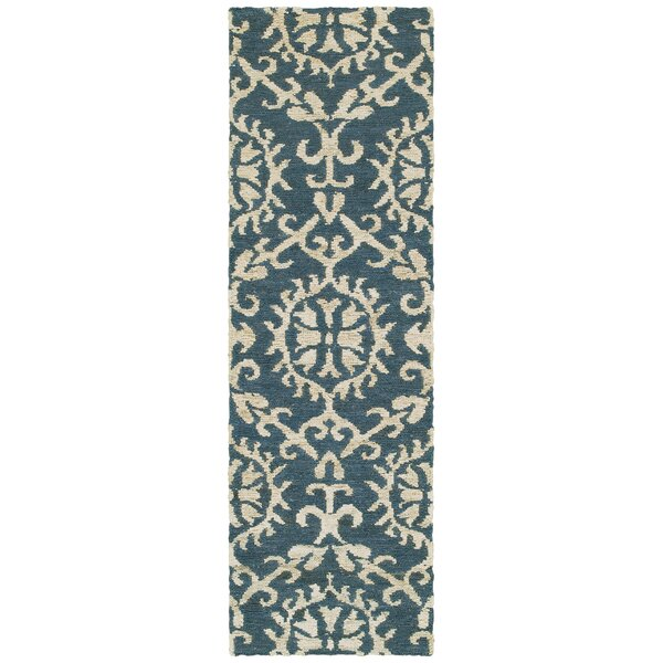 Tommy Bahama Valencia Navy / Beige Floral Rug by Tommy Bahama Home
