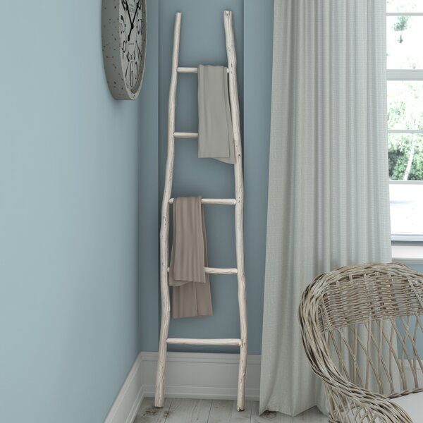 Painted Wood 6 ft Decorative Ladder by Beachcrest Home