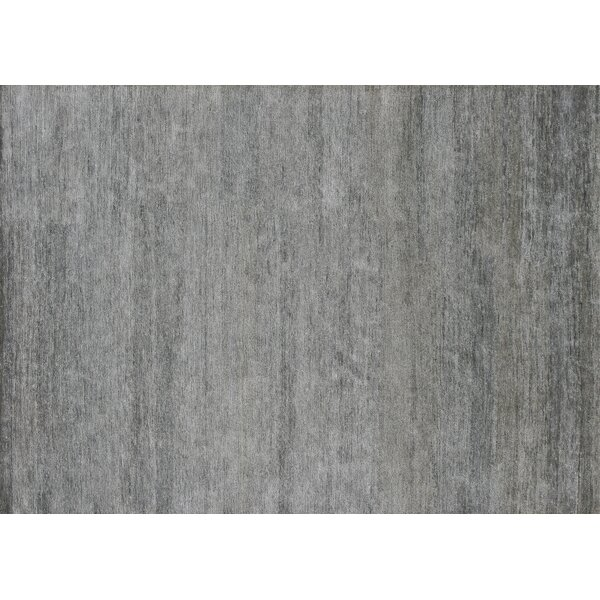 Hively Hand-Knotted Gray Area Rug by Winston Porter