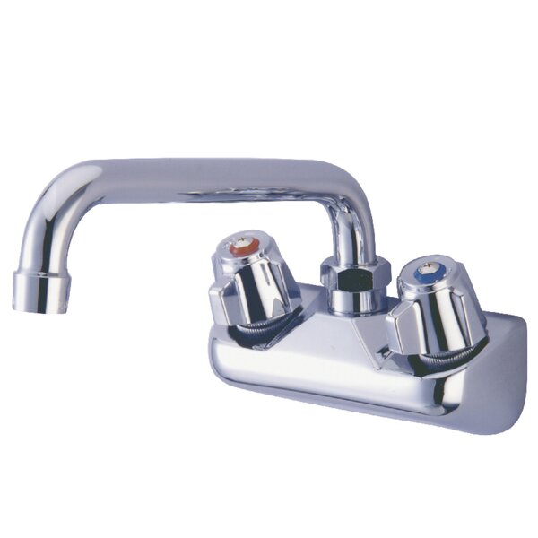 Proseal Wall Mount Double Handle Kitchen Faucet by Kingston Brass