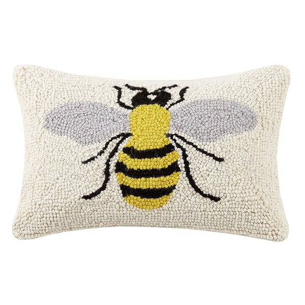 Beeks Bee Hook Wool Throw Pillow by Harriet Bee