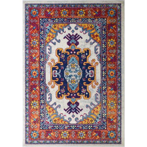 Michaela Red/Blue Area Rug by Bungalow Rose