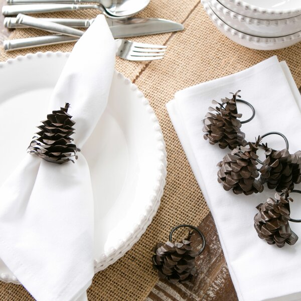 Pinecone Napkin Rings (Set of 6) by Birch Lane™