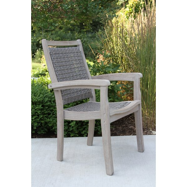 Pilar Stacking Patio Dining Chair By Beachcrest Home by Beachcrest Home Great price