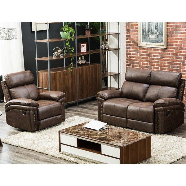 Review Magar 2 Piece Reclining Living Room Set