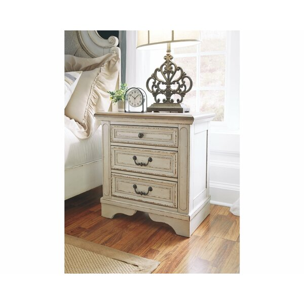 3 Drawer Nightstand By Feminine French Country by Feminine French Country Savings